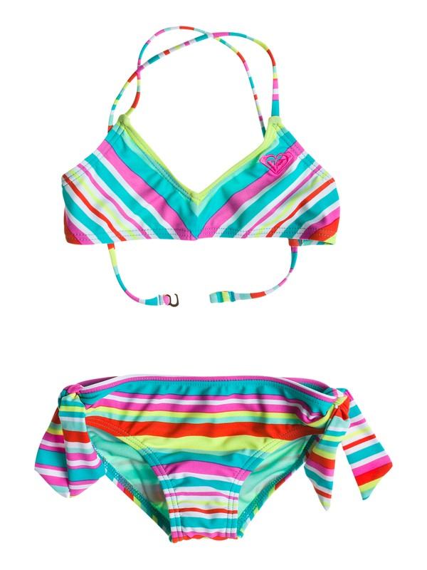0 Girl's 2-6 Surf's Up Stripe Bandeau Set  RRS58566 Roxy