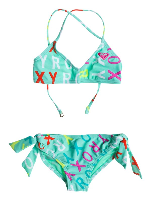 0 Girl's 2-6 Surf's Up Logo Bandeau Set  RRS58576 Roxy