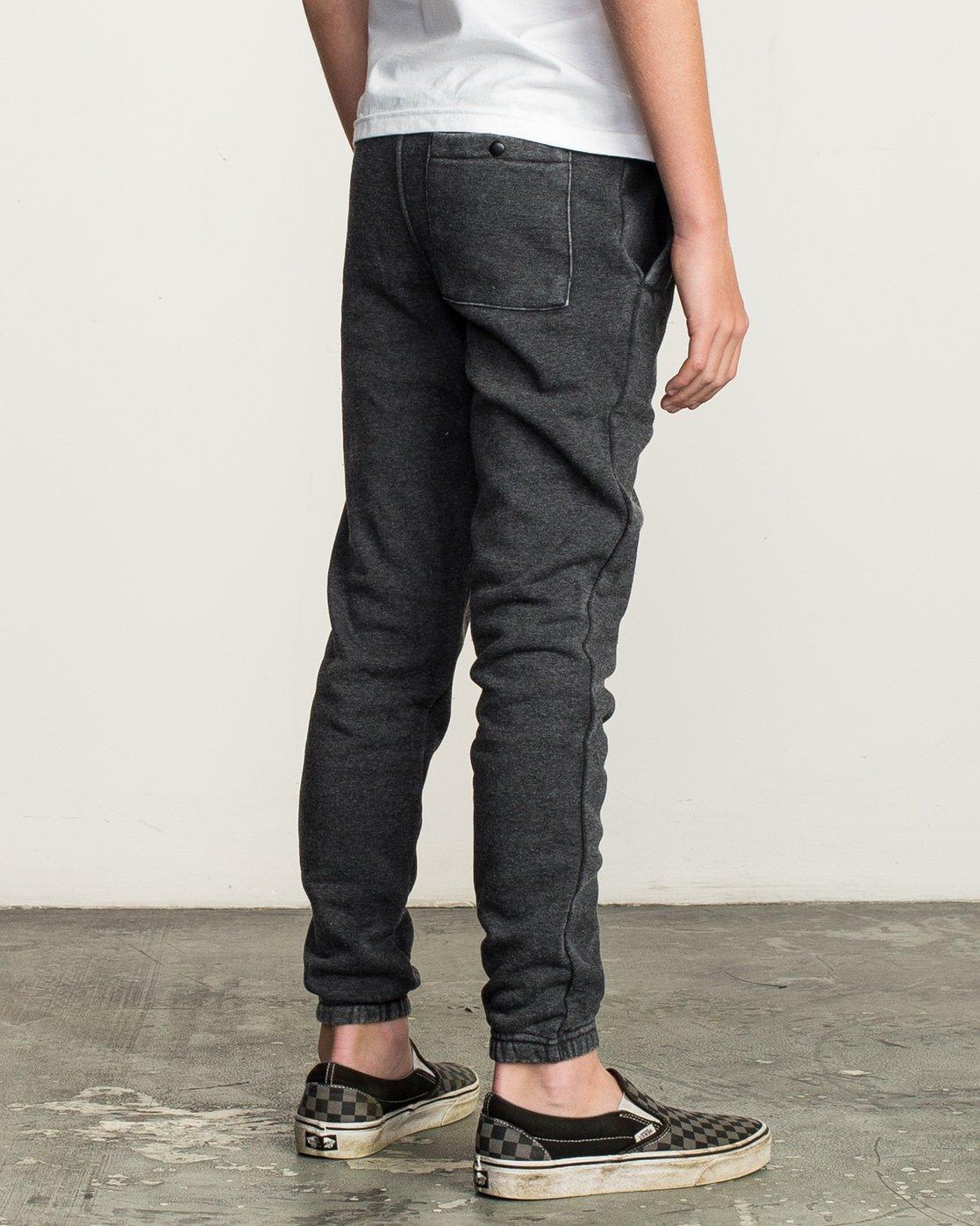 4 Boy's VA Guard Fleece Sweatpant Black B301QRGU RVCA
