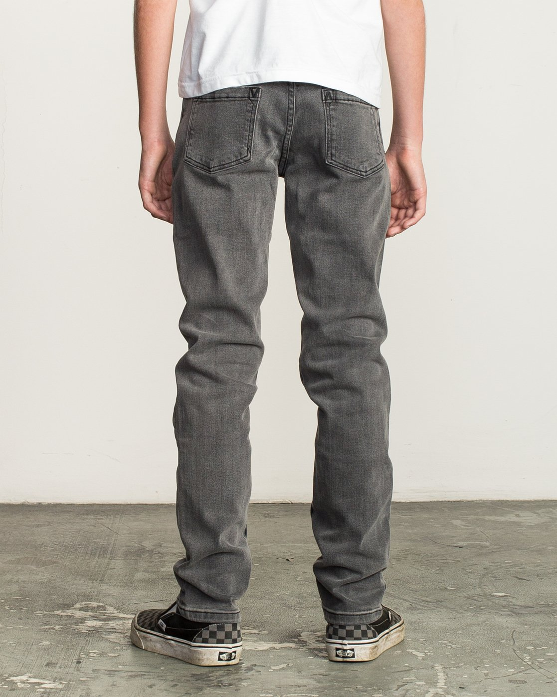 3 Boy's Daggers Denim Jeans Grey B302QRDA RVCA