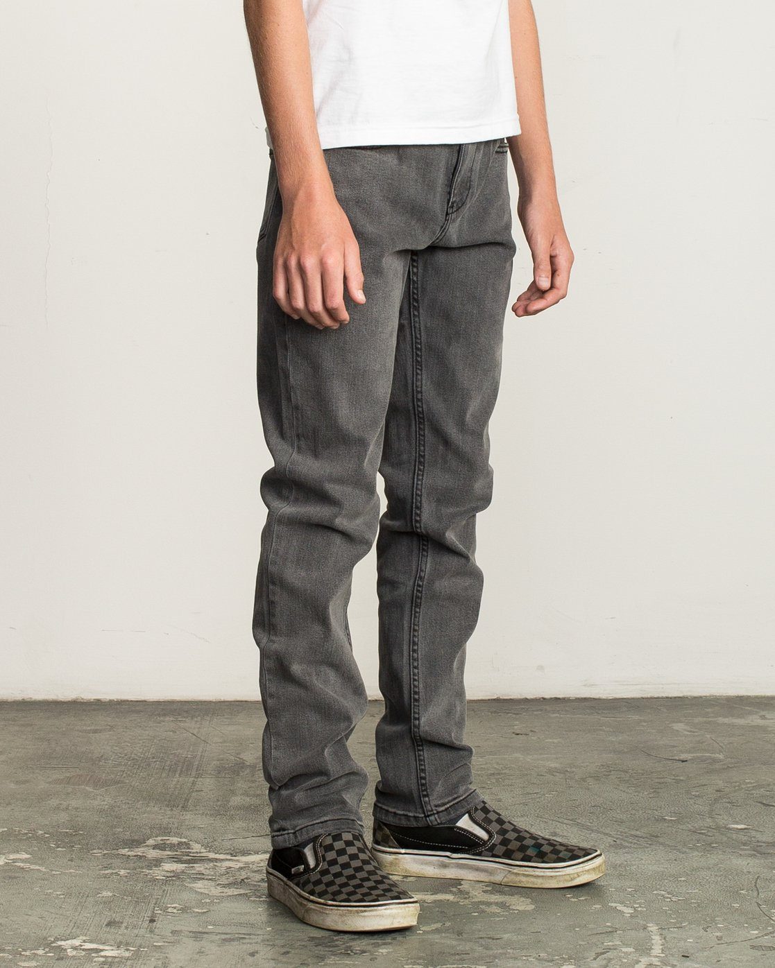 5 Boy's Daggers Denim Jeans Grey B302QRDA RVCA
