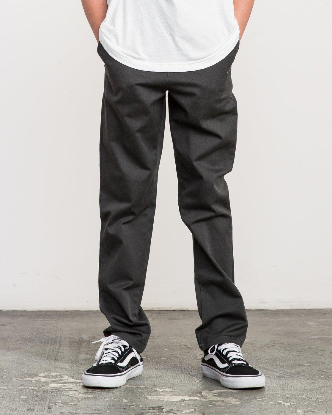 0 Boy's A.T. Dayshift Elastic Pant Black B310QRDS RVCA