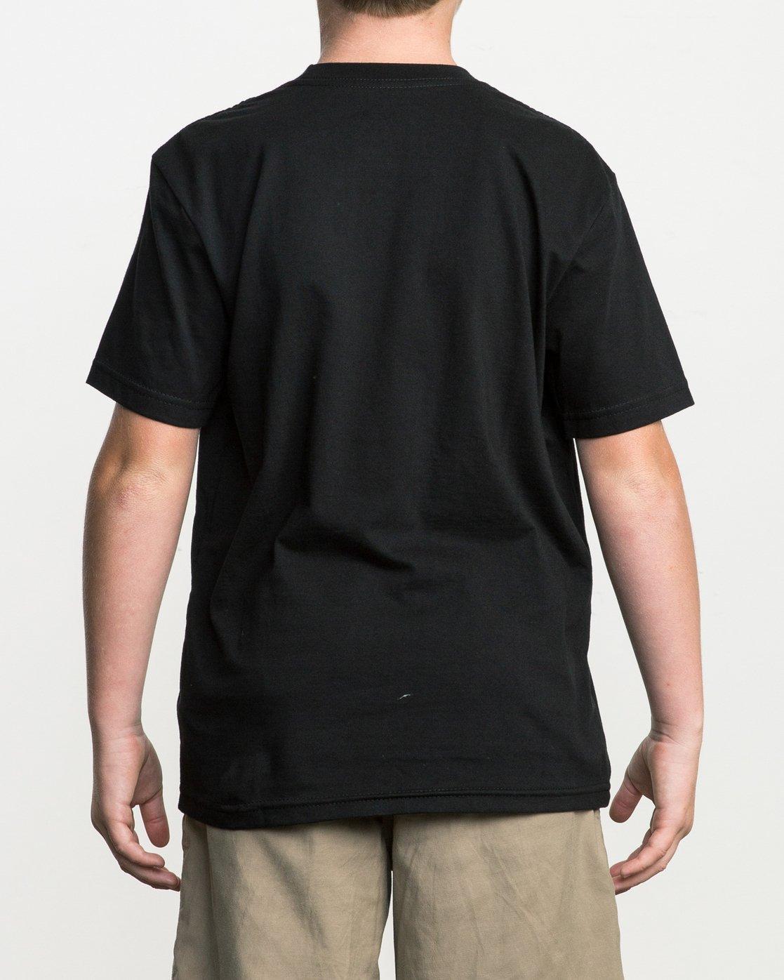 3 Boy's Big RVCA T-Shirt Black B401SRBI RVCA