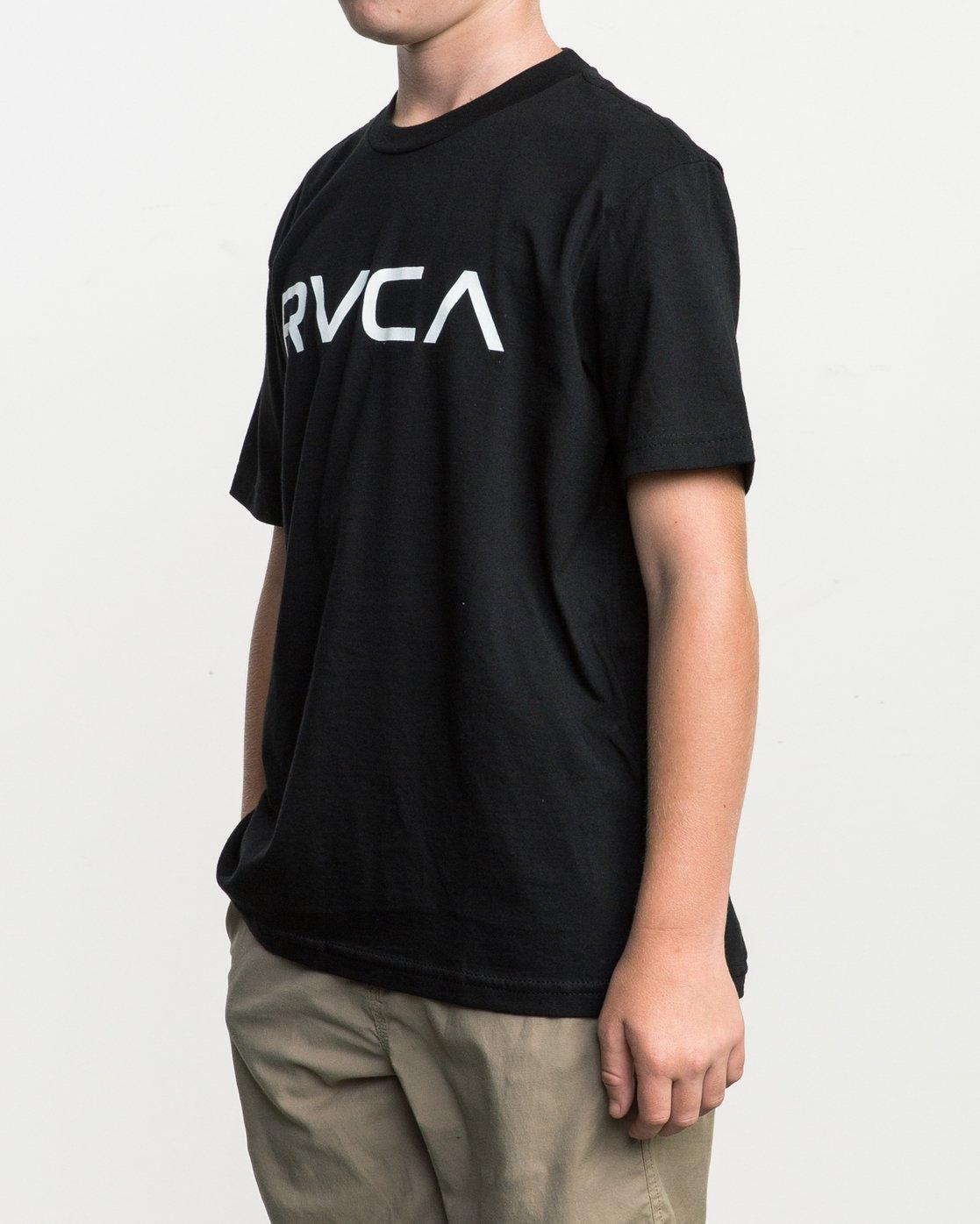2 Boy's Big RVCA T-Shirt Black B401SRBI RVCA