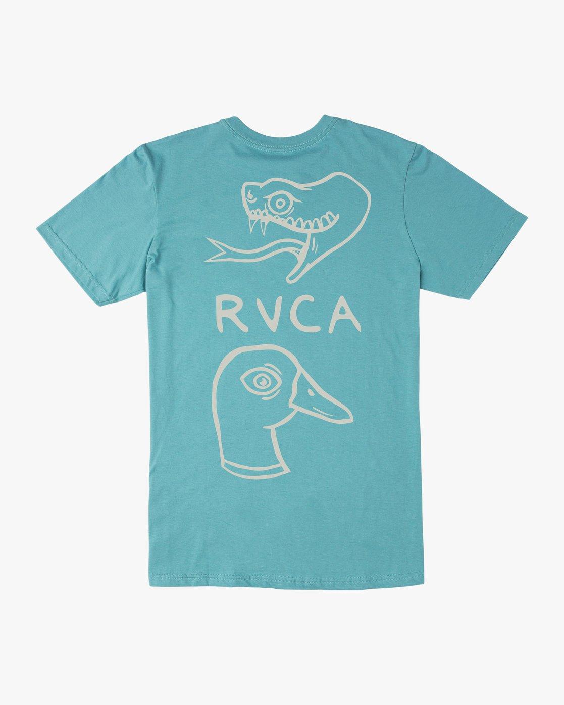 0 Boy's Pommier Eternal Struggle T-Shirt Blue B401TRET RVCA