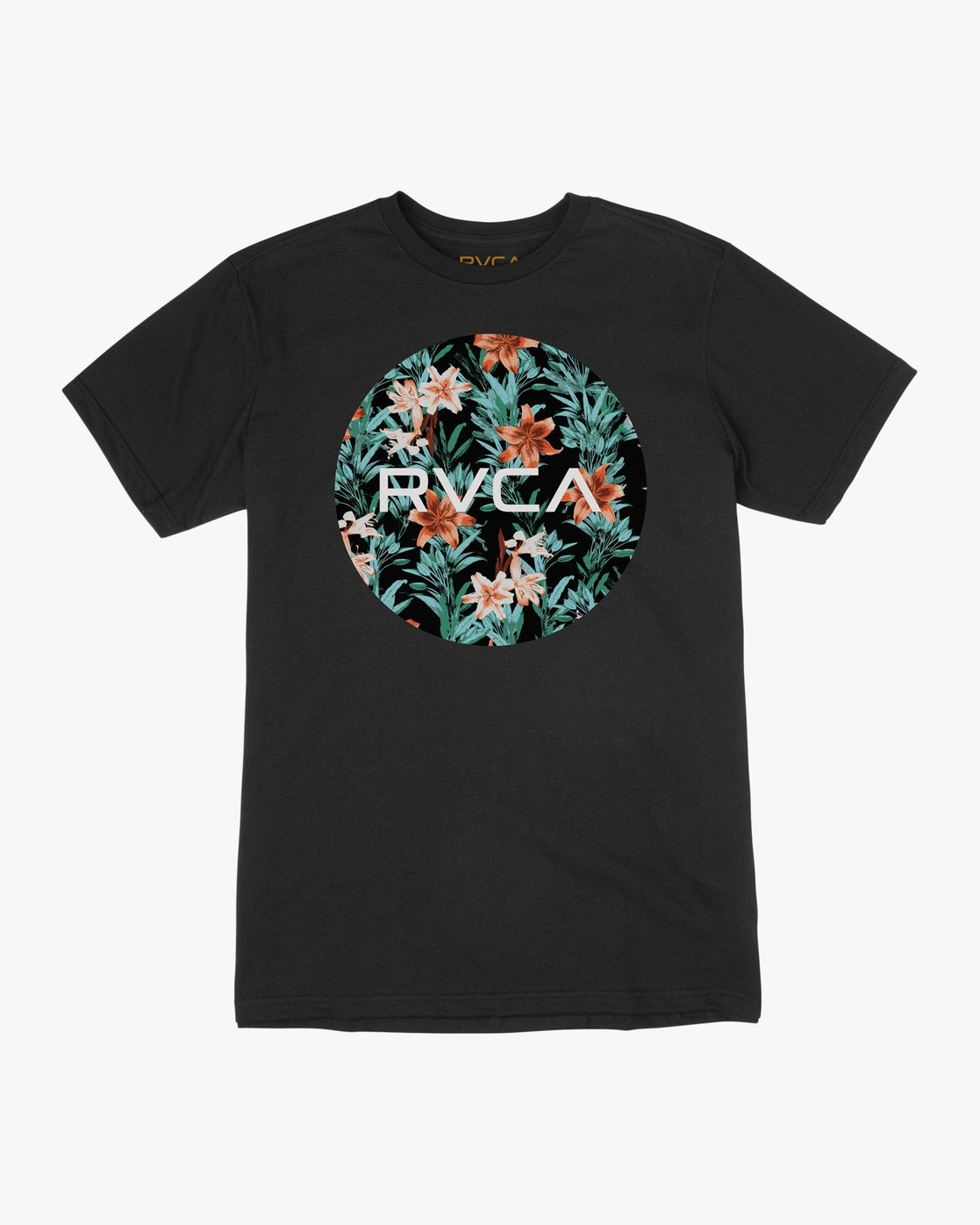 0 Boy's Motors Fill T-Shirt Black B401TRMO RVCA