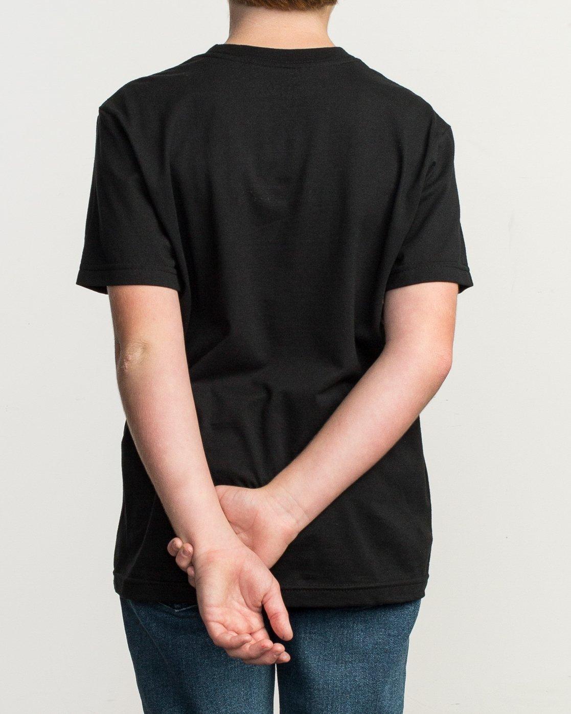 3 Boy's Motors Fill T-Shirt Black B401TRMO RVCA