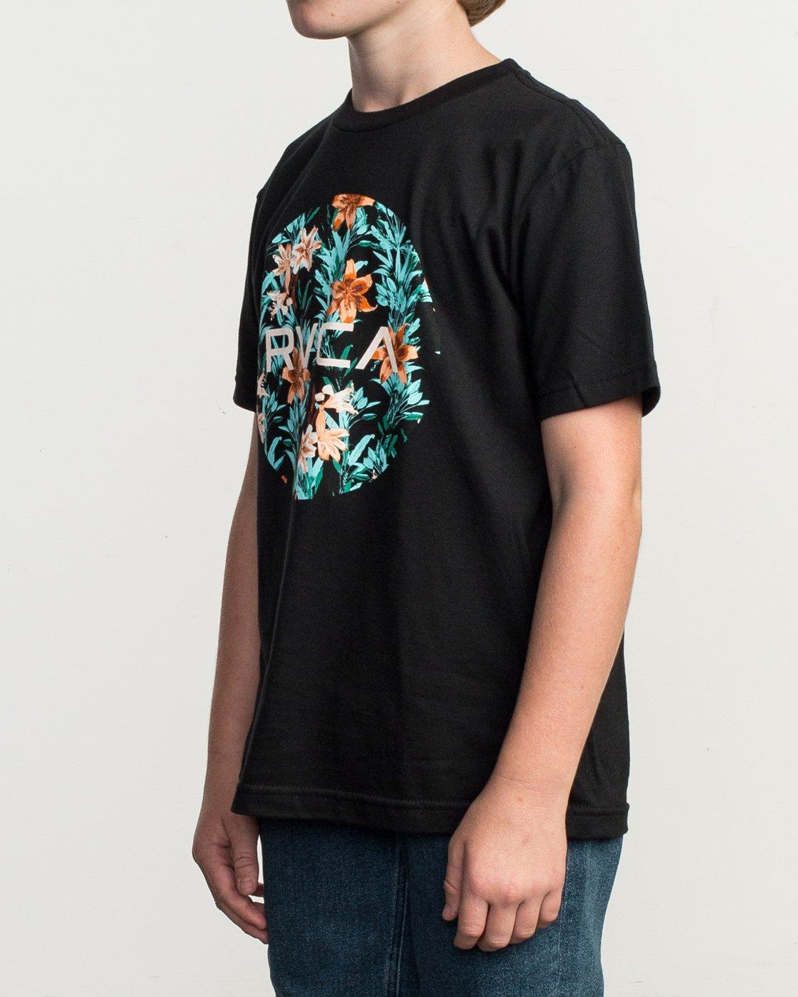 2 Boy's Motors Fill T-Shirt Black B401TRMO RVCA