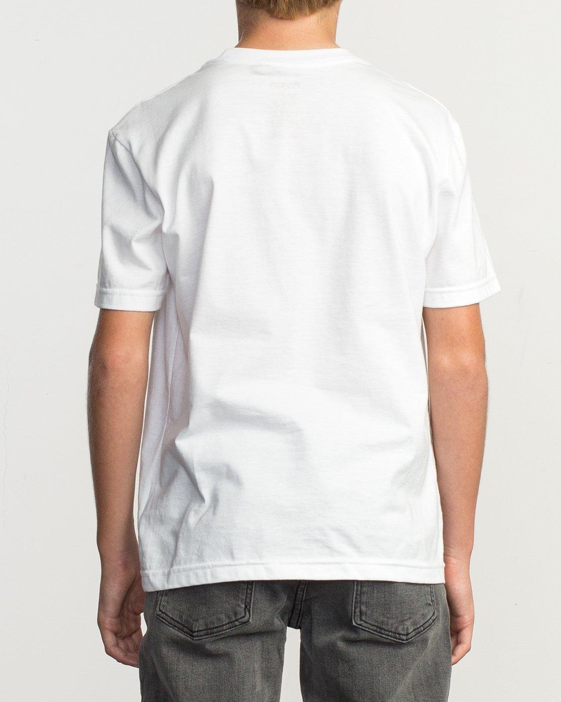 3 Boy's Motors Fill T-Shirt White B401TRMO RVCA