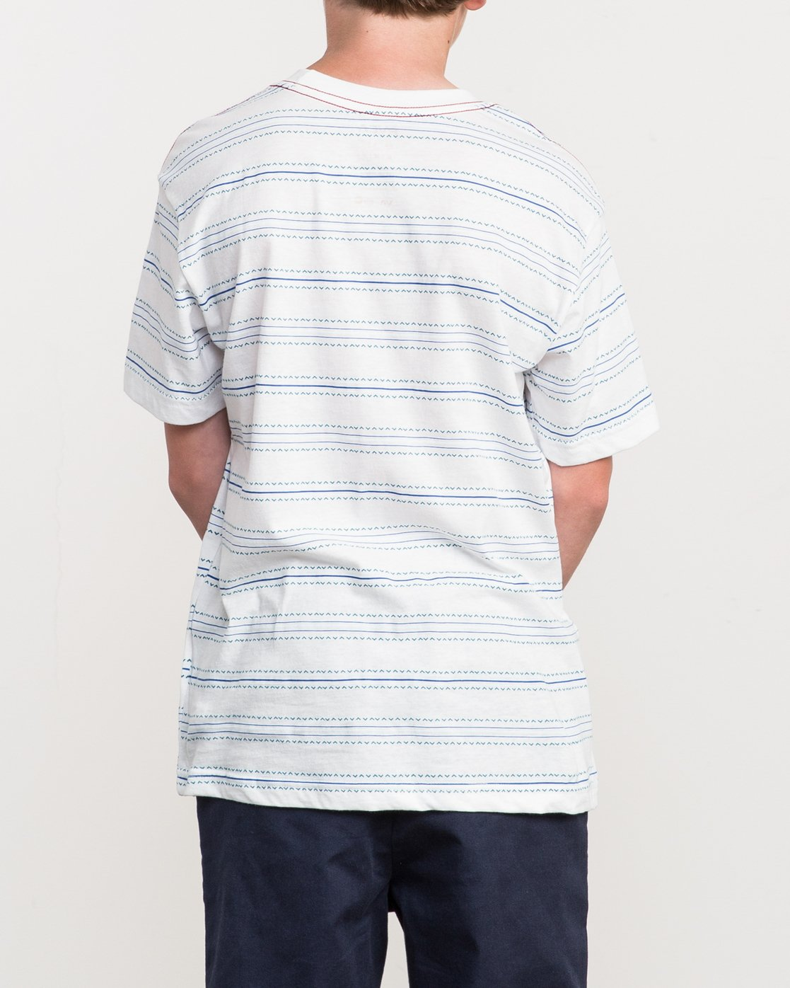 3 Boy's Feeder Stripe T-Shirt  B406QRFE RVCA
