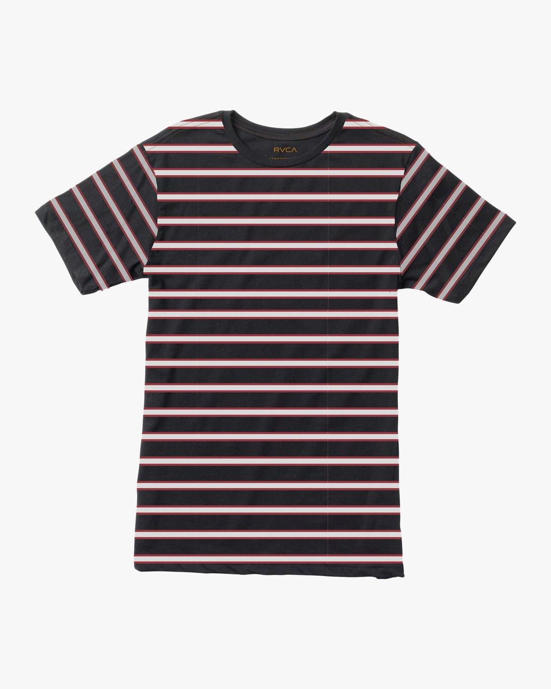 0 Boy's Brong Stripe T-Shirt Black B406SRBR RVCA