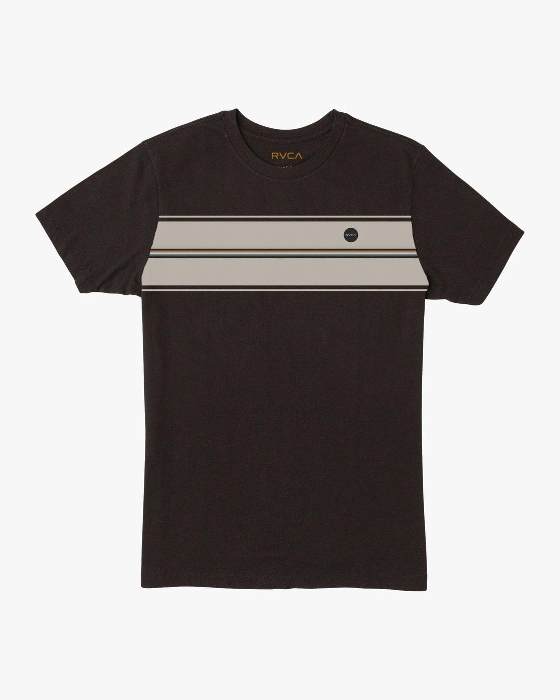 0 Boy's Motors Stripe T-Shirt Black B409SRMO RVCA