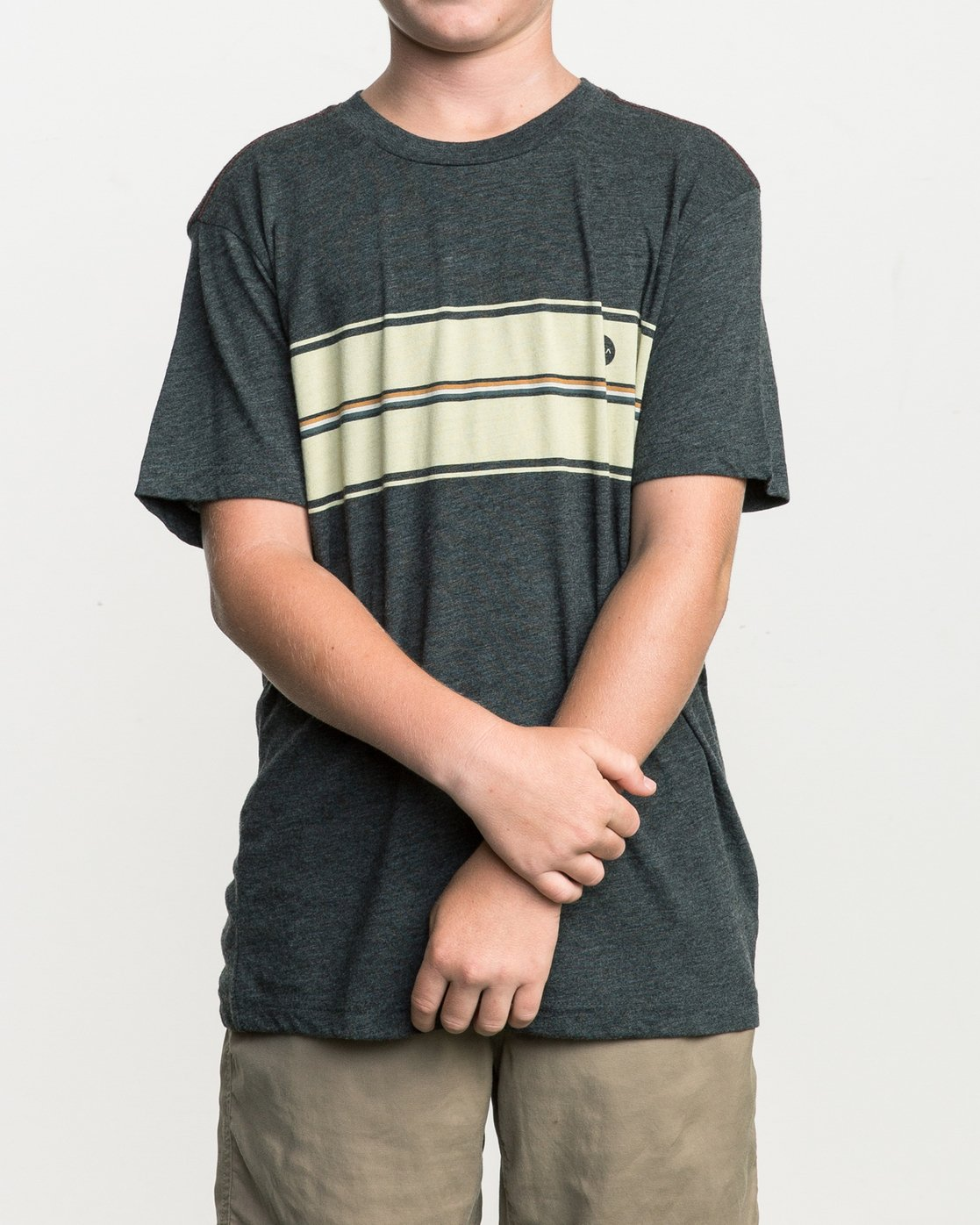 1 Boy's Motors Stripe T-Shirt Black B409SRMO RVCA