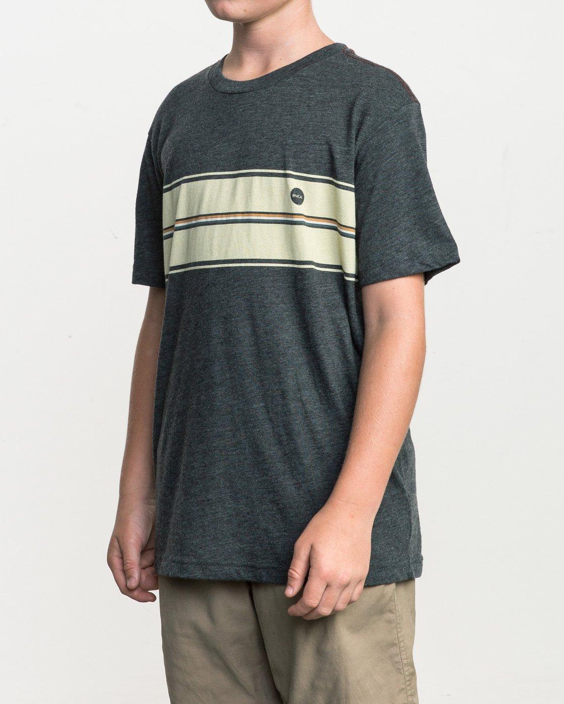 2 Boy's Motors Stripe T-Shirt Black B409SRMO RVCA