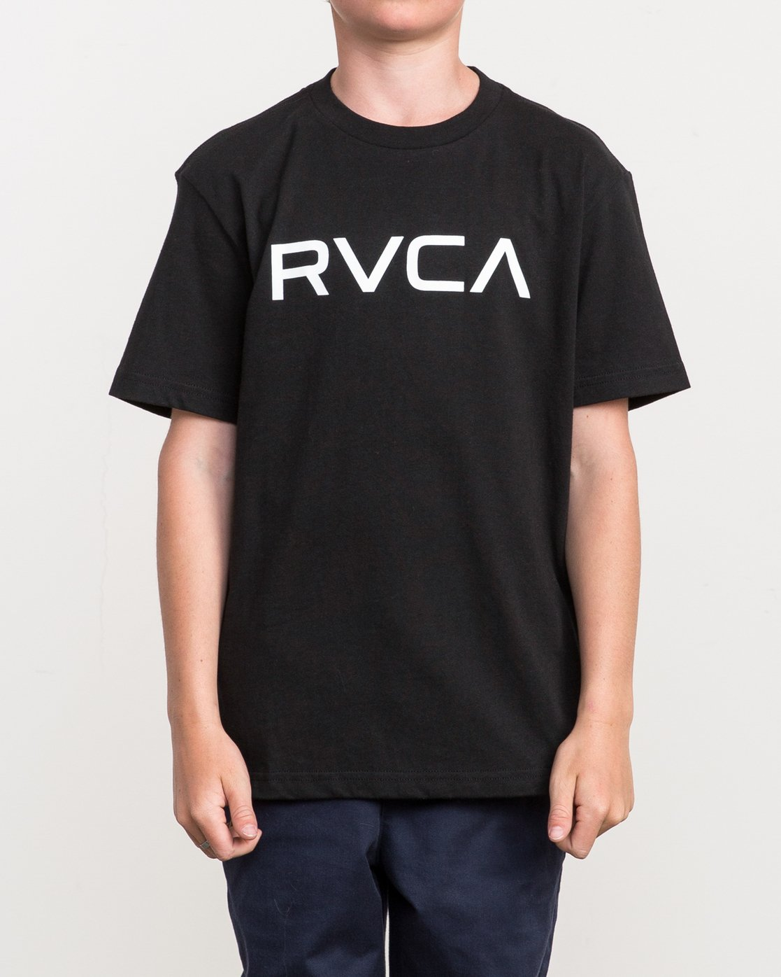 1 Boy's Big RVCA T-Shirt Black B410QRBI RVCA