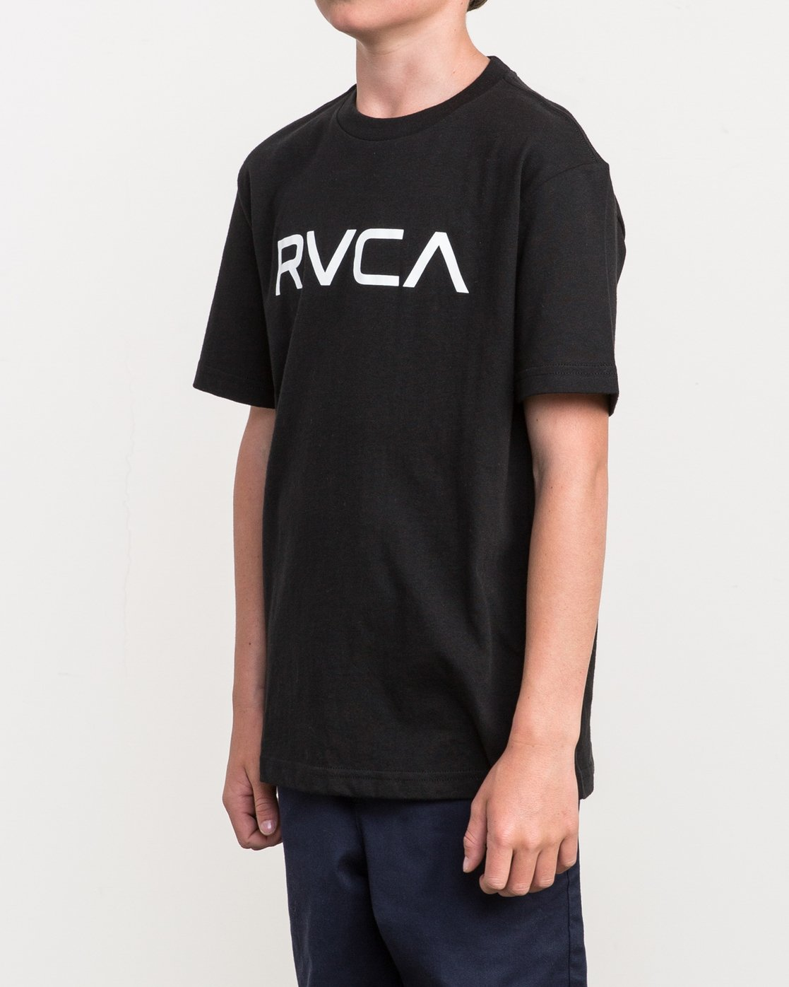 2 Boy's Big RVCA T-Shirt Black B410QRBI RVCA