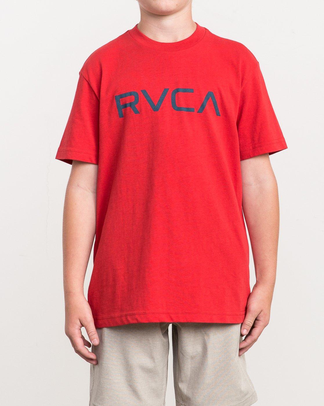 1 Boy's Big RVCA T-Shirt Red B410QRBI RVCA