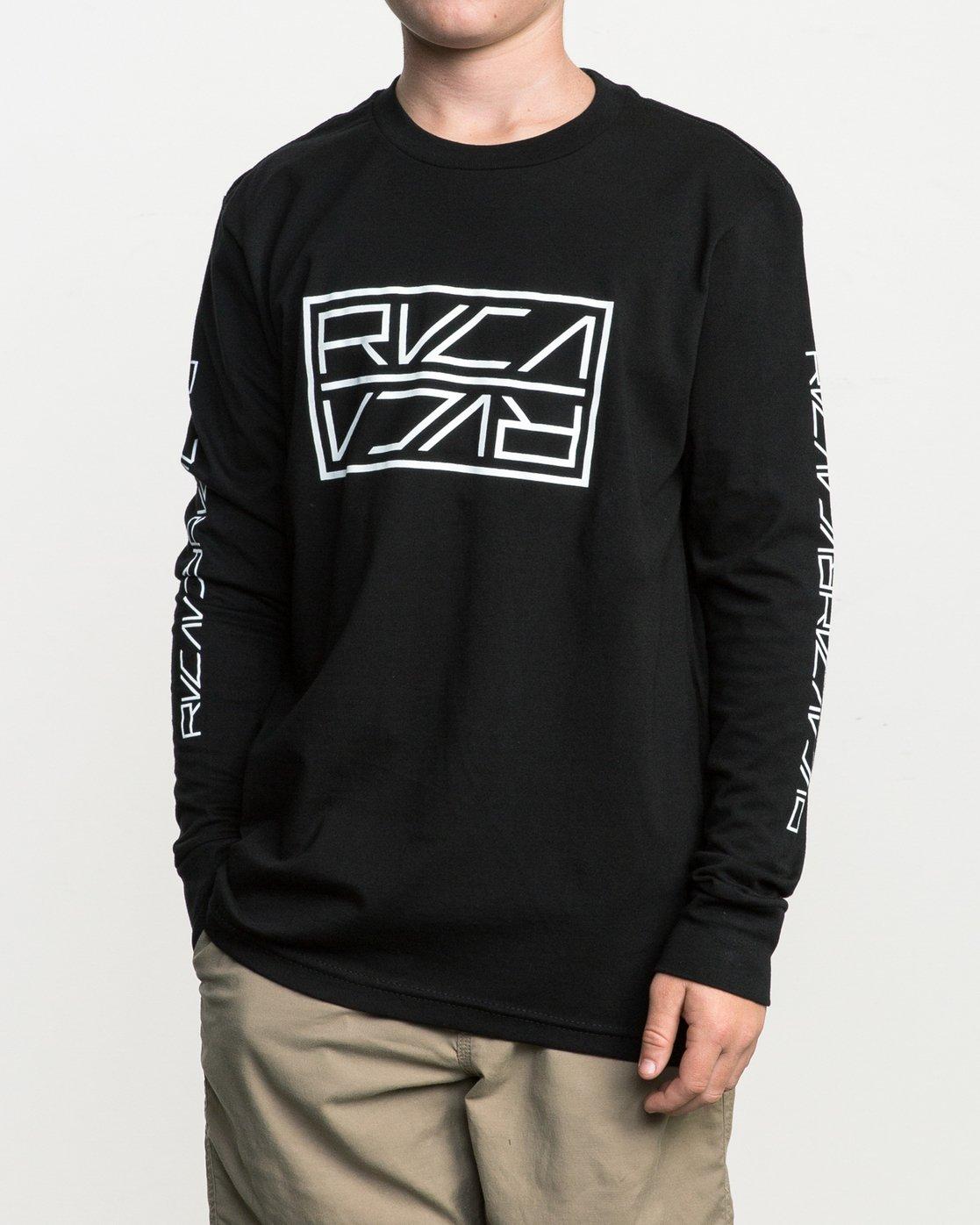 2 Boy's Reflector Long Sleeve T-Shirt  B451SRRE RVCA