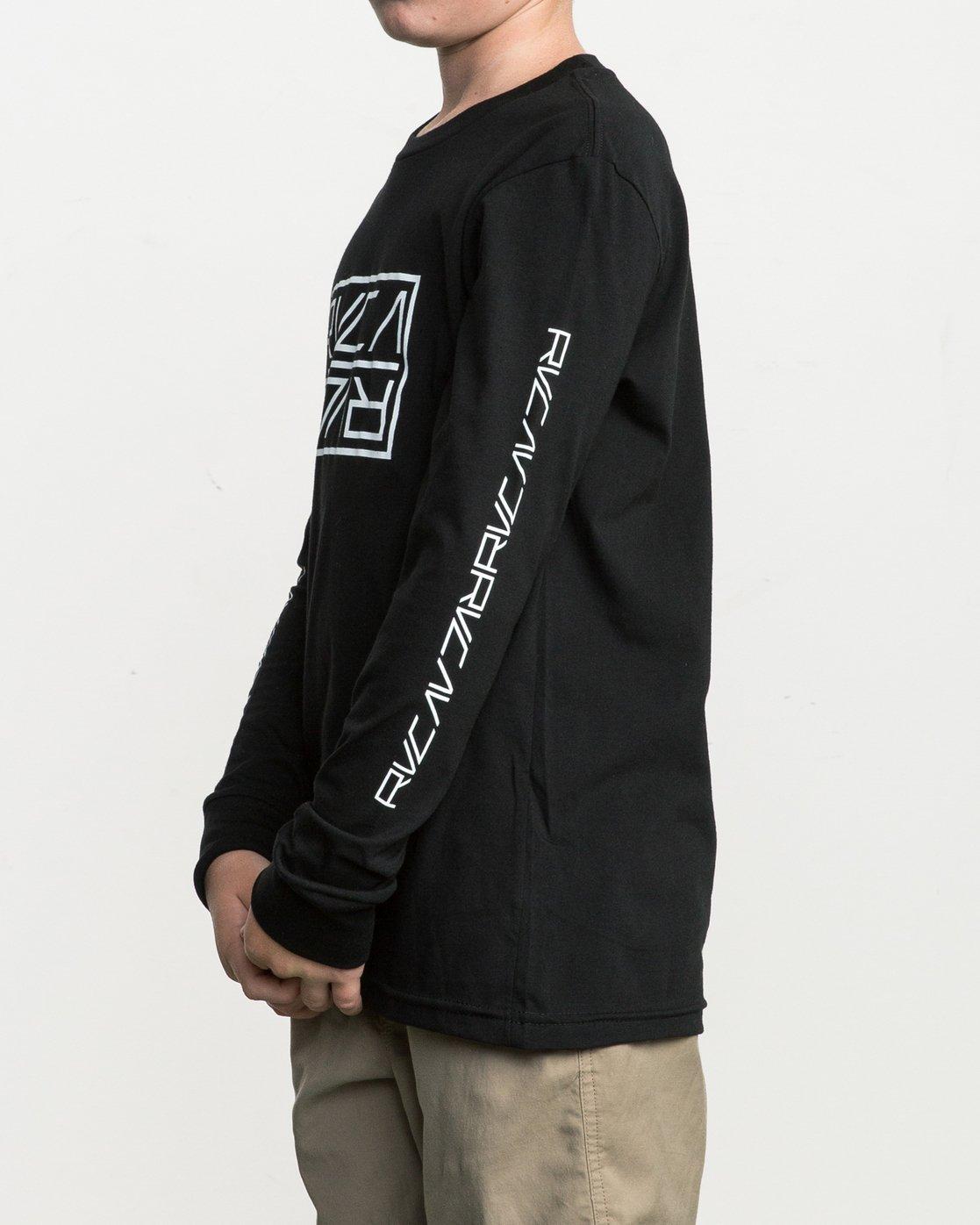 3 Boy's Reflector Long Sleeve T-Shirt  B451SRRE RVCA