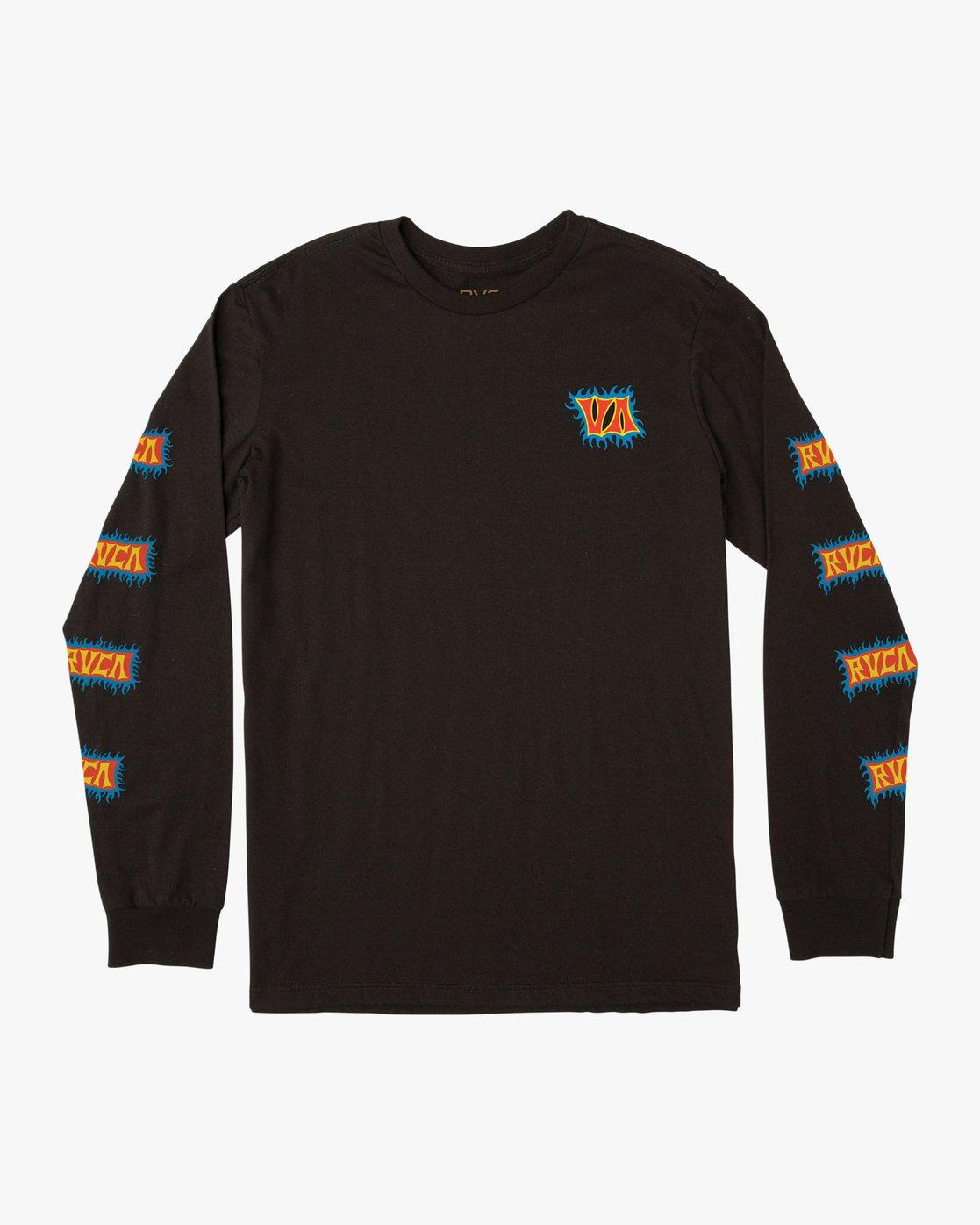 0 Boy's Crawling Long Sleeve T-Shirt Black B451TRCR RVCA