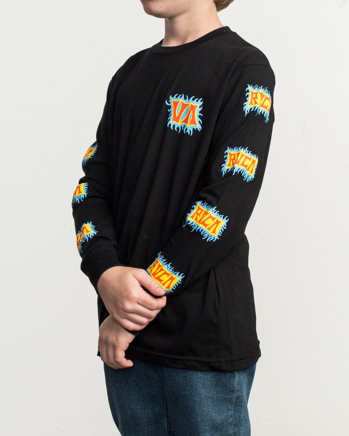 2 Boy's Crawling Long Sleeve T-Shirt Black B451TRCR RVCA