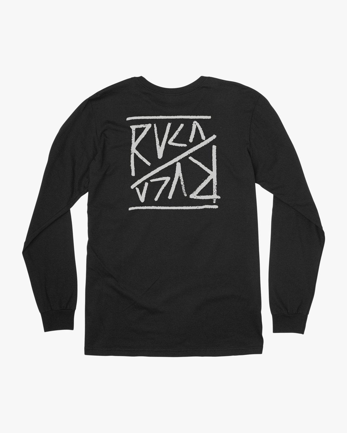 0 Boy's Flipped Long Sleeve T-Shirt Black B451TRFL RVCA