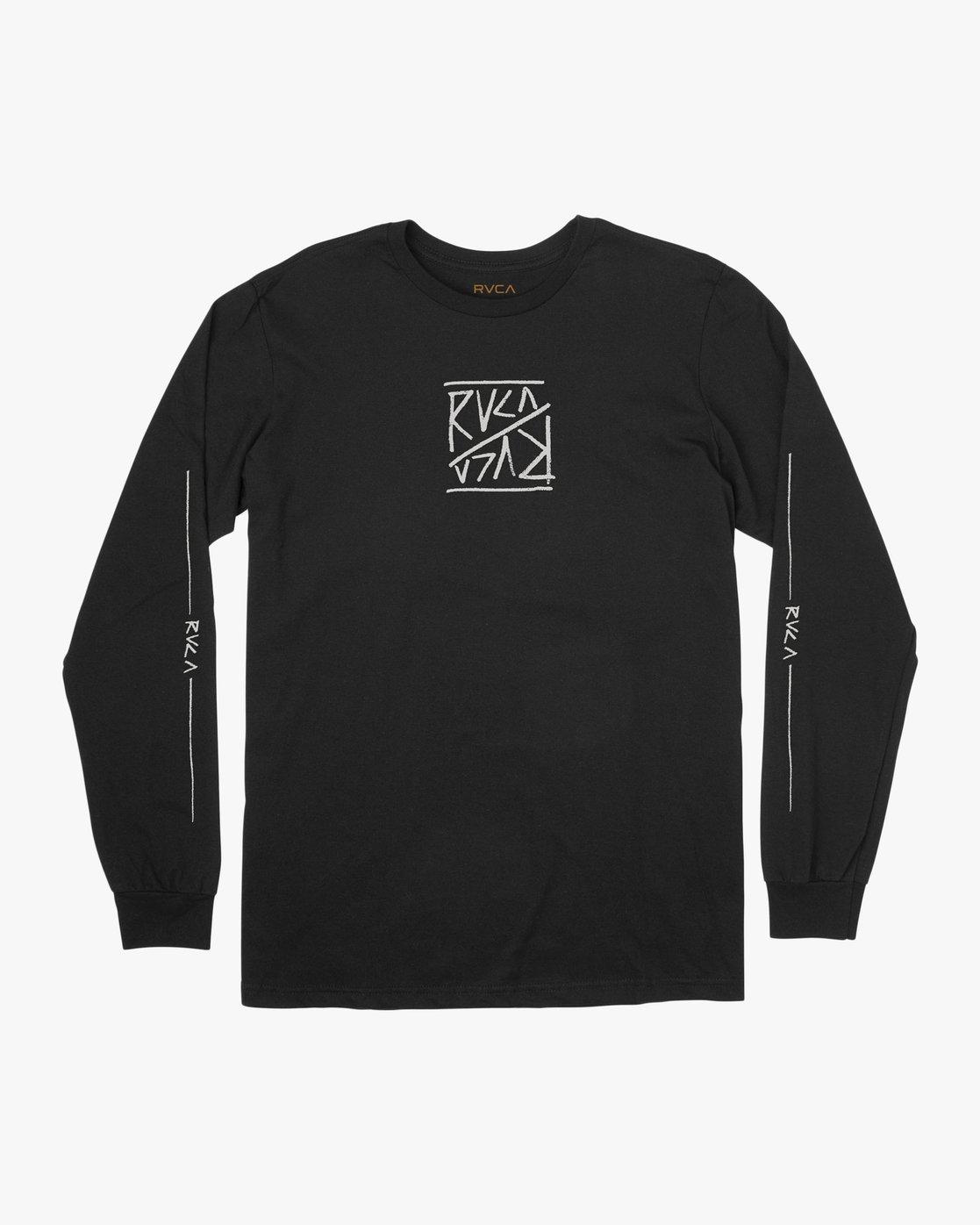 1 Boy's Flipped Long Sleeve T-Shirt Black B451TRFL RVCA