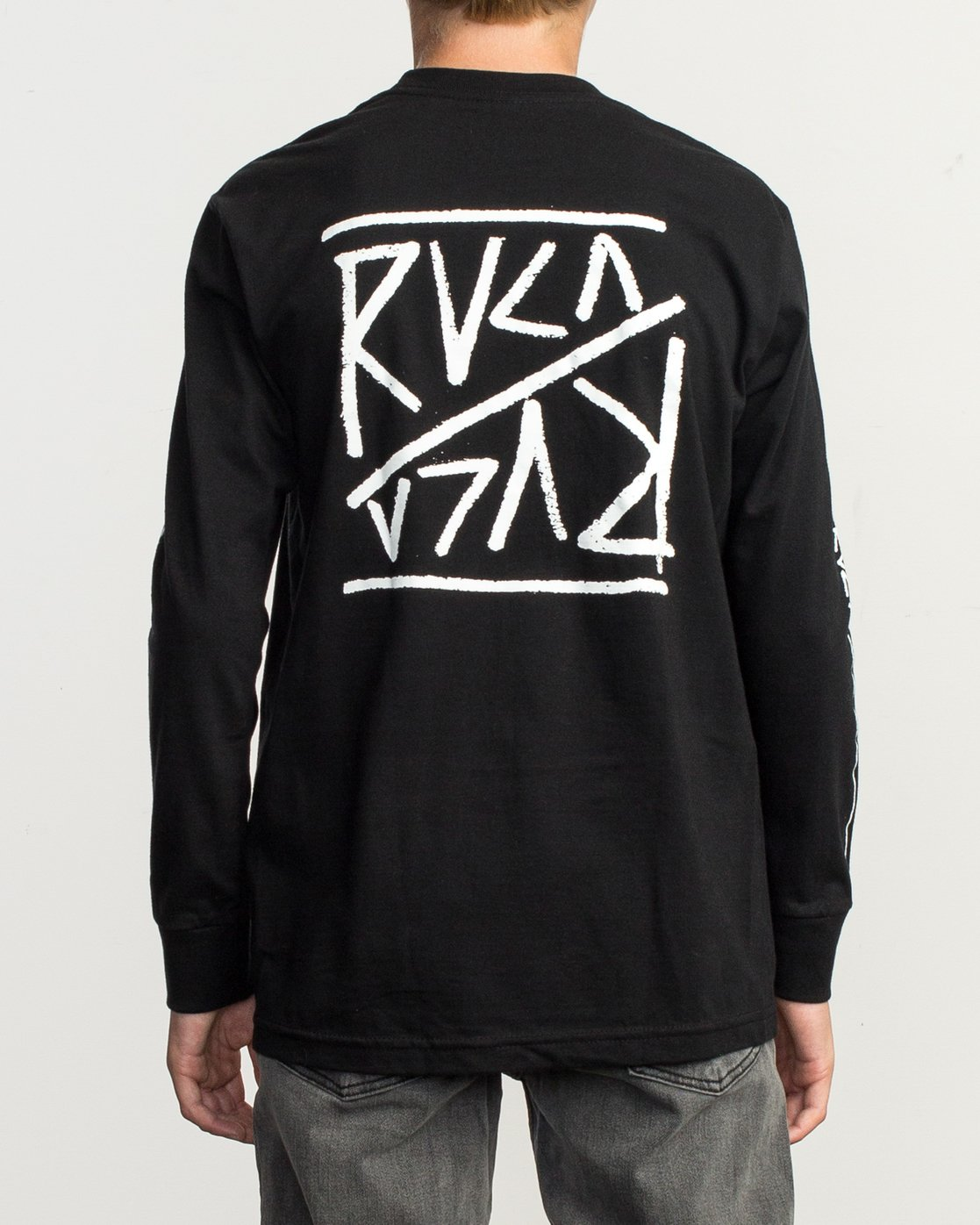 4 Boy's Flipped Long Sleeve T-Shirt Black B451TRFL RVCA