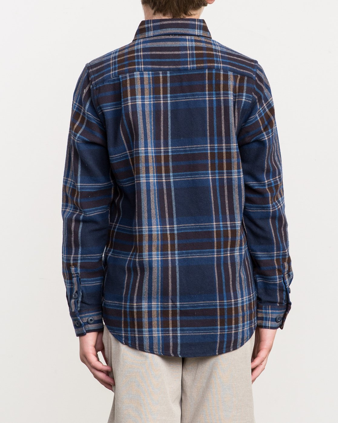 3 Boy's Ludlow Plaid Flannel  B502QRLU RVCA