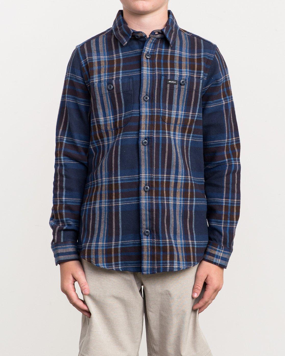 1 Boy's Ludlow Plaid Flannel  B502QRLU RVCA
