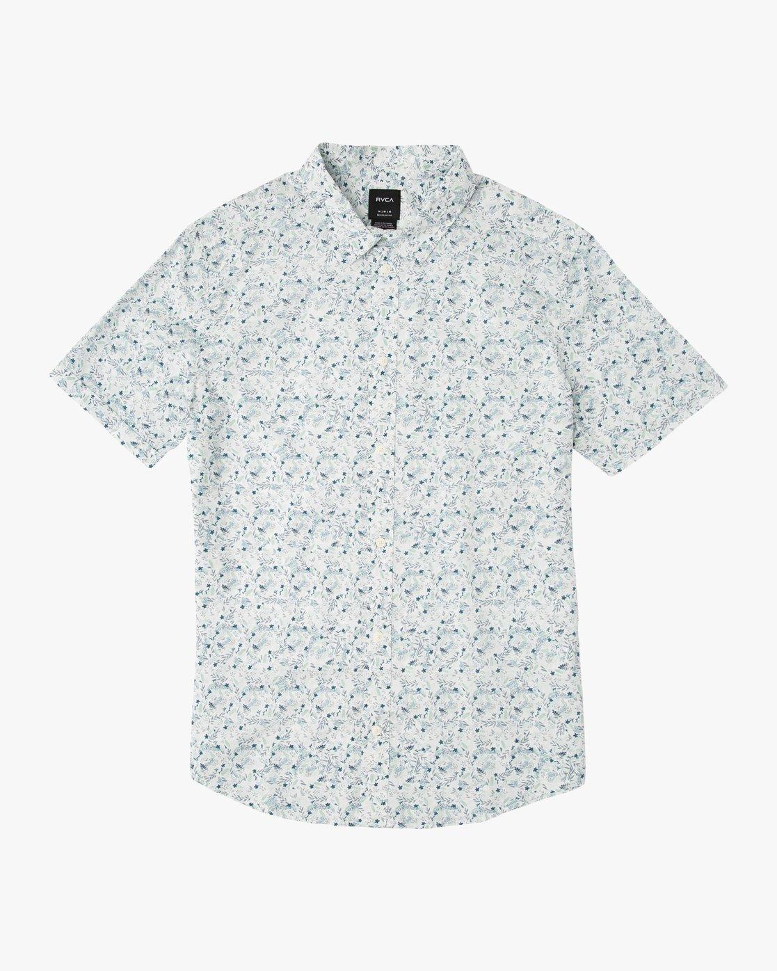 0 Boy's Makato Button-Up Shirt White B502SRMA RVCA