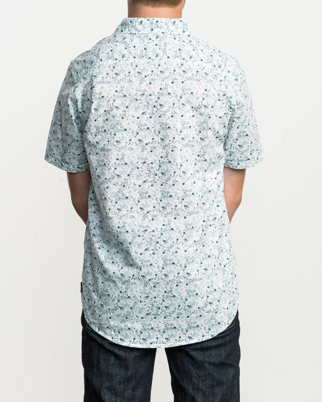 3 Boy's Makato Button-Up Shirt White B502SRMA RVCA