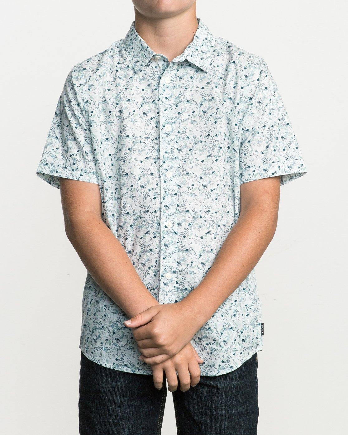 1 Boy's Makato Button-Up Shirt White B502SRMA RVCA