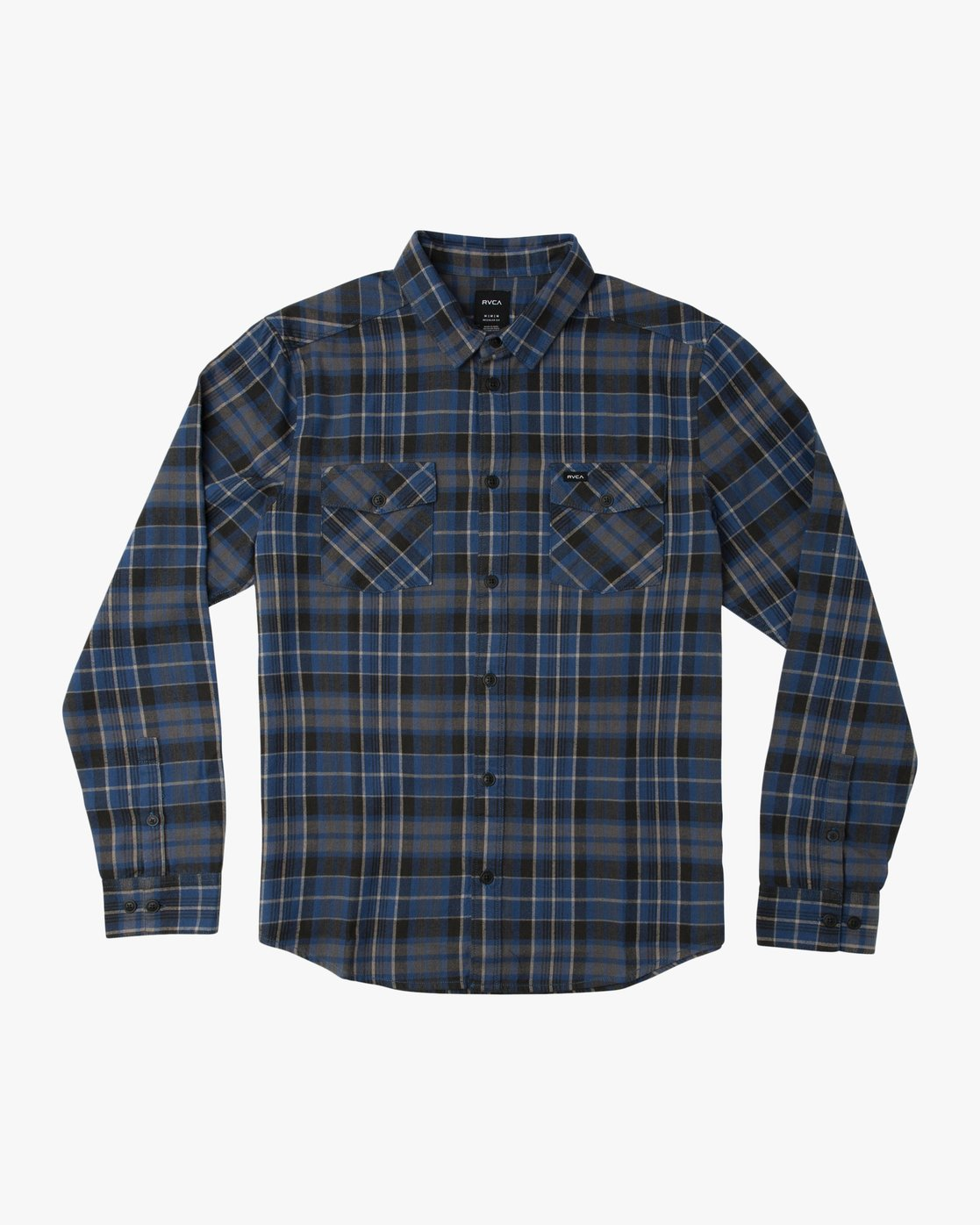 0 Boy's Watt Flannel Shirt Blue B553TRWF RVCA