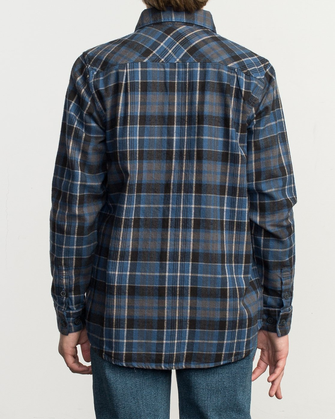 3 Boy's Watt Flannel Shirt Blue B553TRWF RVCA