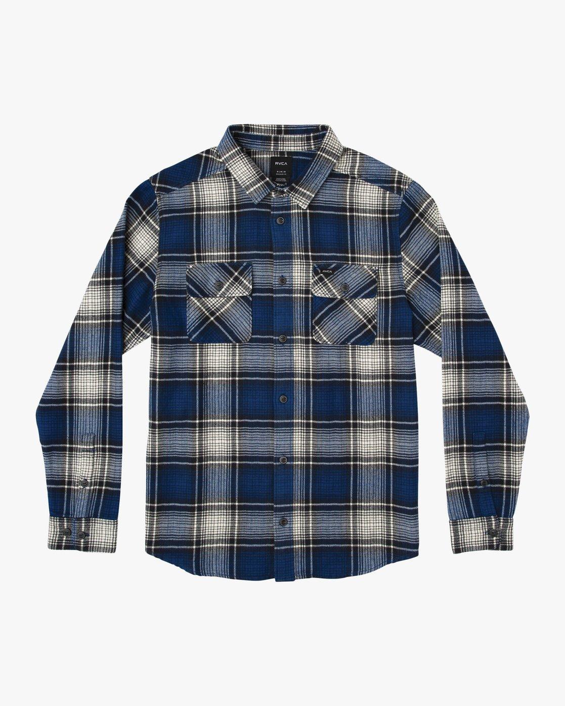 0 Boy's High Plains Plaid Flannel Blue B558SRHP RVCA