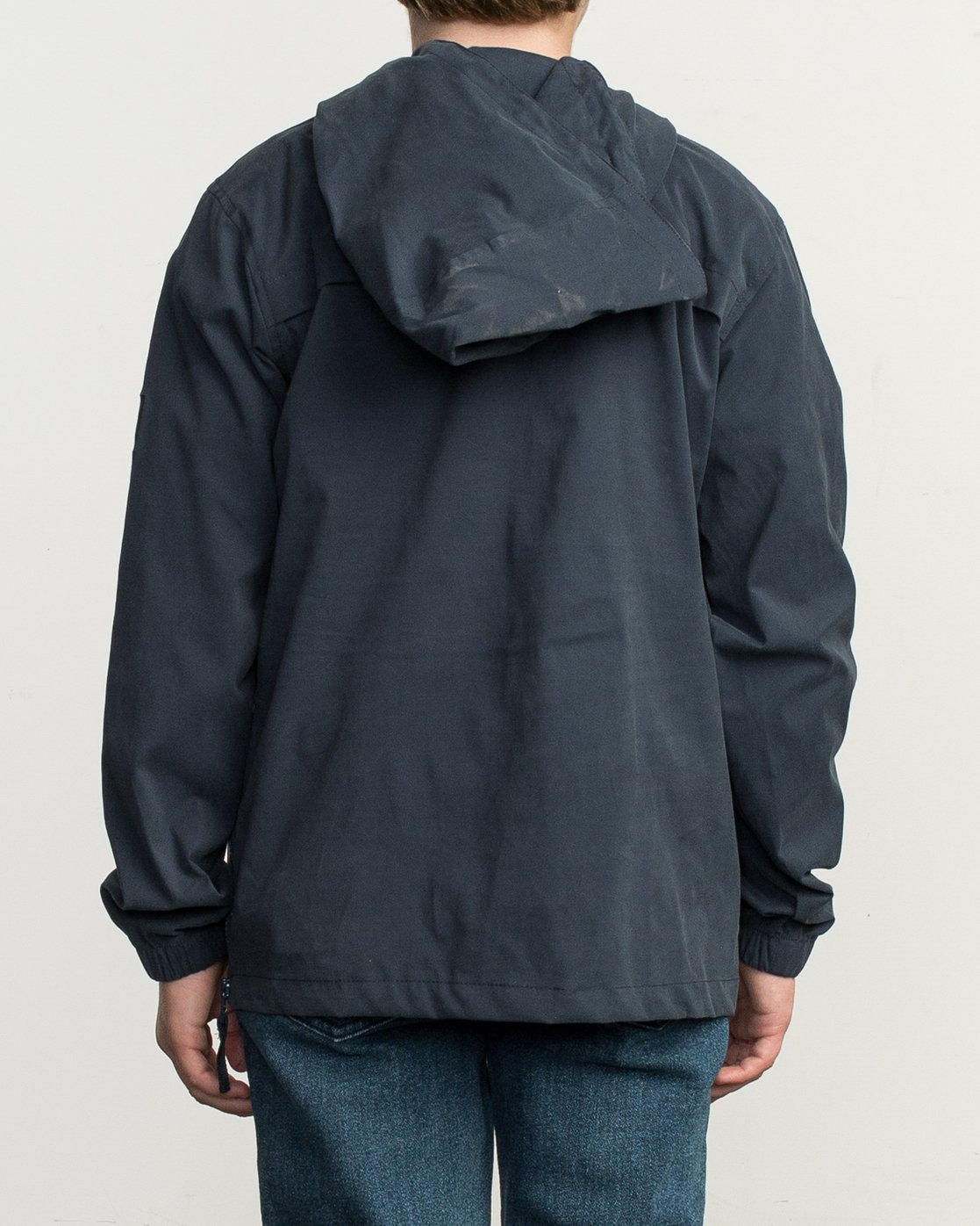 4 Boy's On Point Packable Anorak Jacket Blue B701TROP RVCA