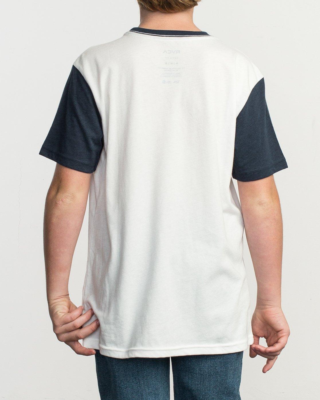 3 Boy's Pick Up II Knit Shirt White B902QRPU RVCA