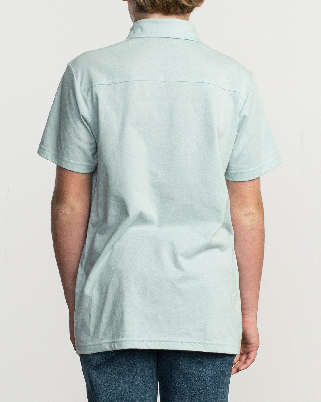 3 Boy's Sure Thing ANP Polo Shirt Blue B915TRSU RVCA