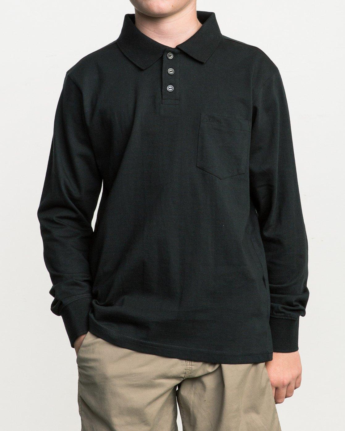 1 Boy's Hi Grade Polo Black B951SRHP RVCA