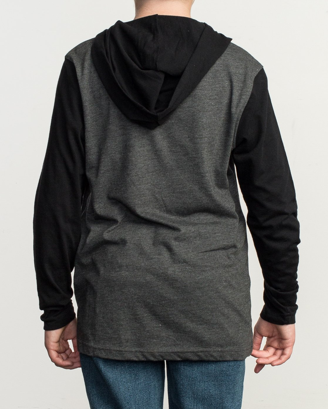3 Boy's Pick Up Knit Hoodie Grey BL904PUH RVCA