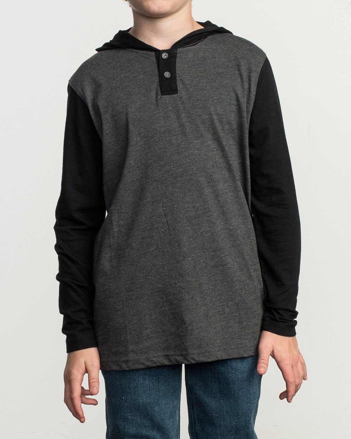 1 Boy's Pick Up Knit Hoodie Grey BL904PUH RVCA