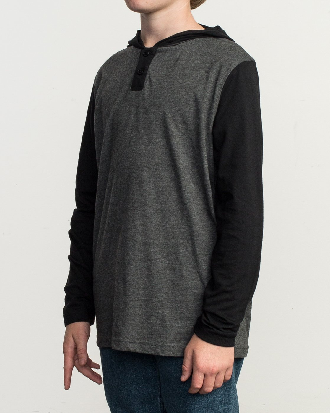 2 Boy's Pick Up Knit Hoodie Grey BL904PUH RVCA