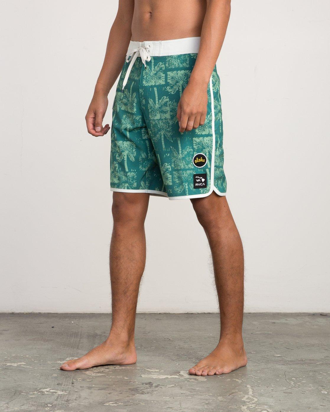 """2 Oblow Palms 20"""" Trunk Green M101QROP RVCA"""