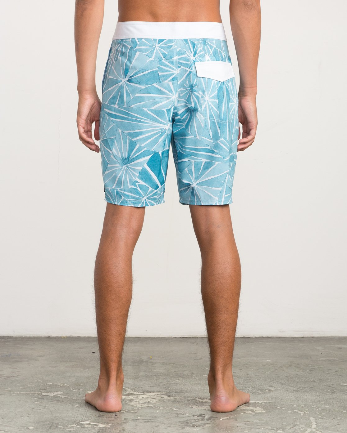 "4 Blade Printed 20"" Boardshort Blue M105QRBL RVCA"