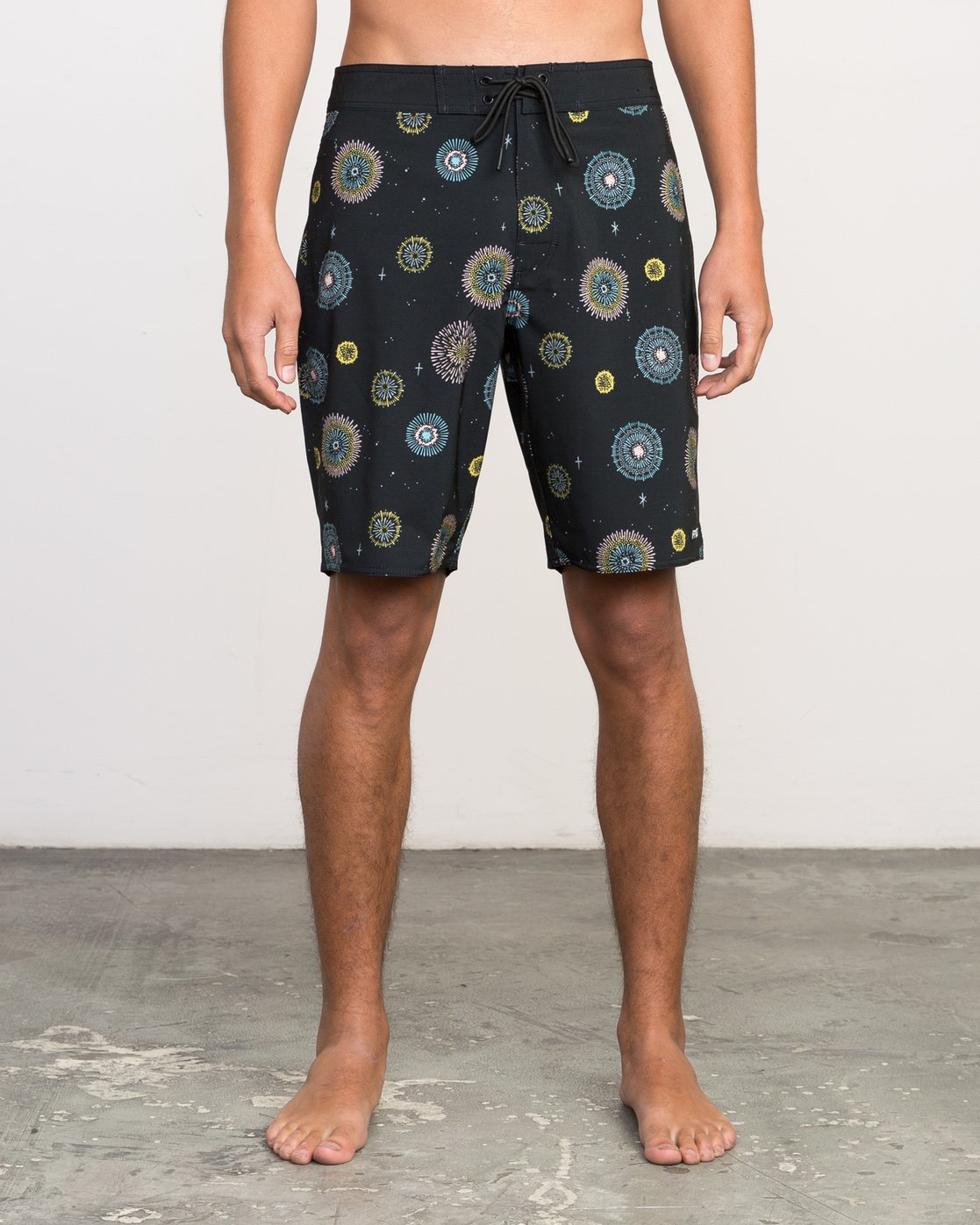 "1 Luke Pelletier 19"" Boardshort Black M110PRPE RVCA"