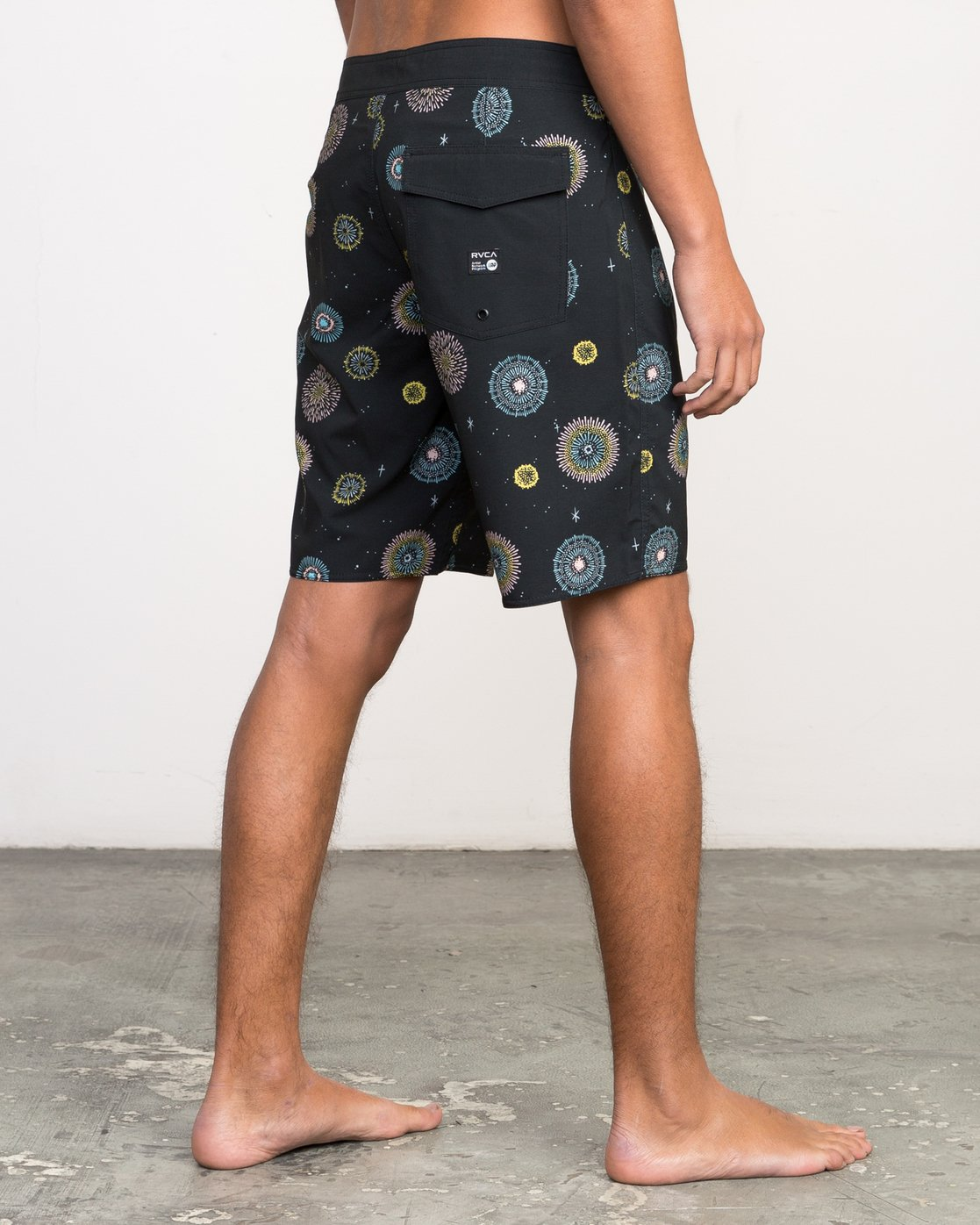 "5 Luke Pelletier 19"" Boardshort Black M110PRPE RVCA"