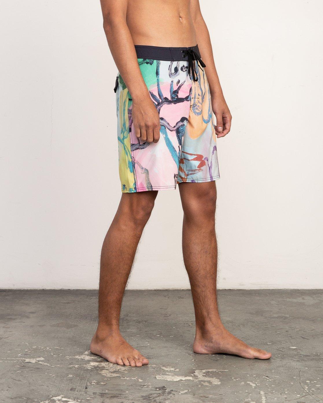"""7 Sage Vaughn Floral 19"""" Boardshort Multicolor M156TRSA RVCA"""