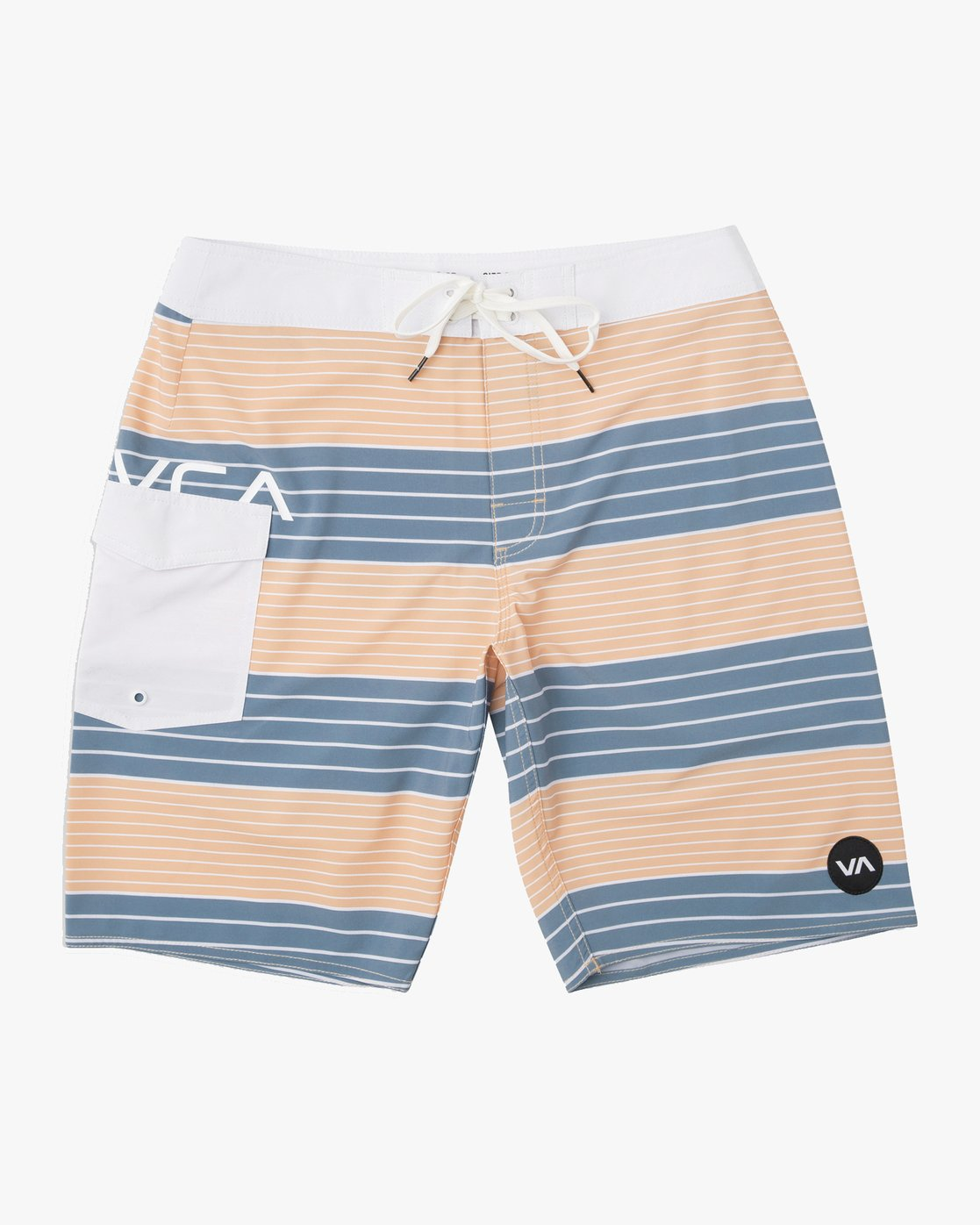"0 Uncivil Stripe 20"" Boardshort Orange M164TRUN RVCA"