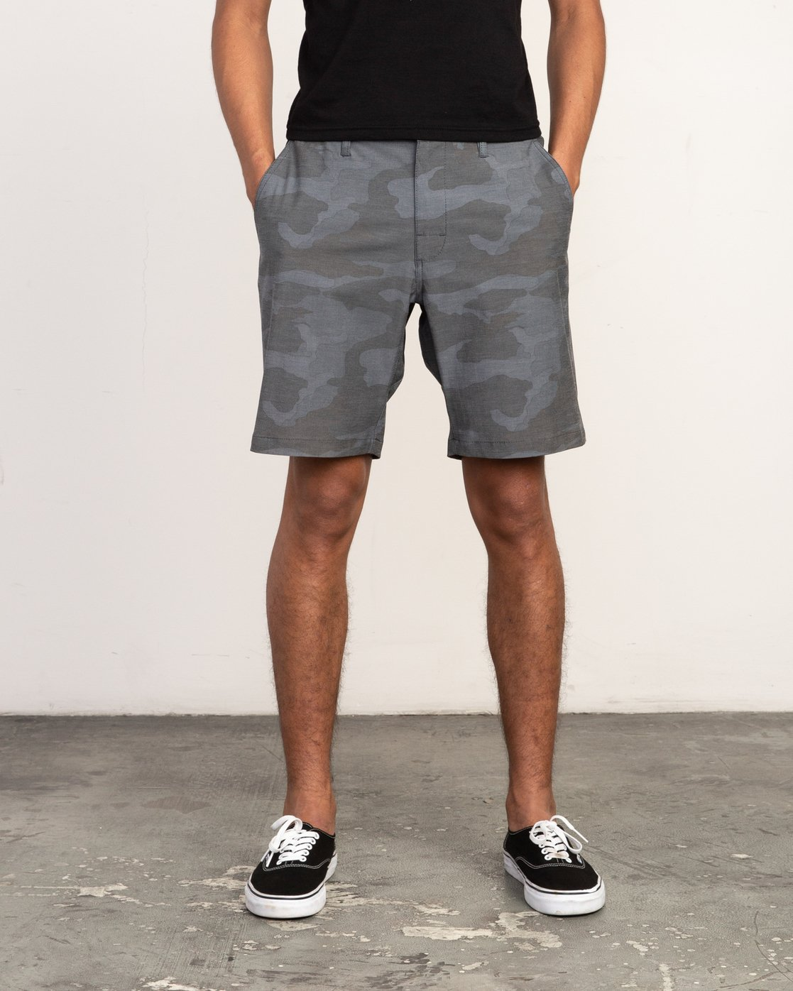 1 All Time Coastal Print Hybrid Short Black M207TRCP RVCA